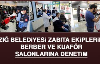 Elazığ Belediyesi Zabıta Ekiplerinden Berber ve...