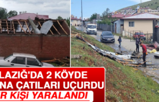 Elazığ'da 2 Köyde Fırtına Çatıları Uçurdu,...