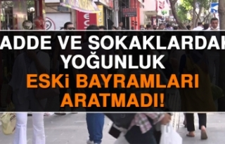 Elazığ'da Cadde ve Sokaklarda Bayram Yoğunluğu