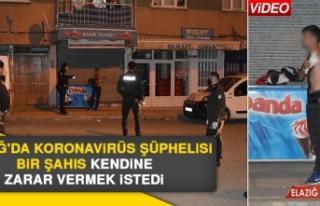 Elazığ'da Koronavirüs Şüphelisi Bir Şahıs...