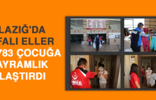Elazığ'da Vefalı Eller, Bin 783 Çocuğa Bayramlık...
