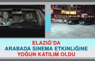 ELAZIĞ'DA ARABADA SİNEMA ETKİNLİĞİNE YOĞUN...