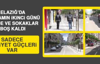 Elazığ'da Bayramın İkinci Günü Cadde ve Sokaklar...