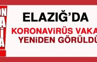 ELAZIĞ'DA KORONAVİRÜS VAKASI YENİDEN GÖRÜLDÜ