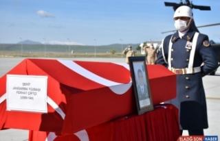 Kars'ta şehit olan Bölük Komutanı Yüzbaşı Ferhat...