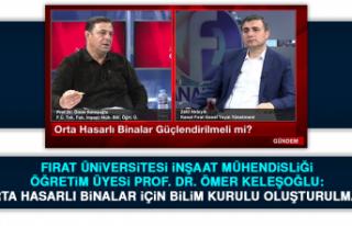 Prof. Dr. Ömer Keleşoğlu: Orta hasarlı binalar...