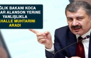 Sağlık Bakanı Koca, Mazhar Alanson Yerine Yanlışlıkla...