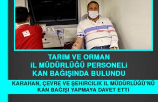 Tarım Ve Orman İl Müdürlüğü Personeli Kan Bağışında...