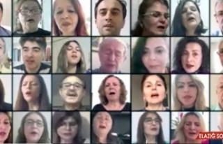 Türk Sanat Müziği korosu çalışmalarını telekonferansla...