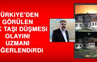 Türkiye'den Görülen Gök Taşı Düşmesi...
