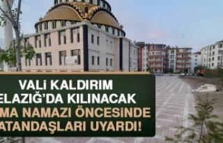 Vali Kaldırım, Cuma Namazıyla İlgili Vatandaşları...