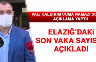 Vali Kaldırım Elazığ'daki Son Vaka Sayısını...