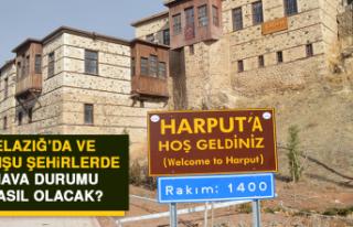 6 Haziran'da Elazığ'da Hava Durumu Nasıl Olacak?