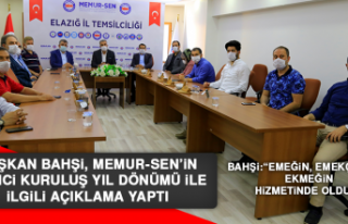 Başkan Bahşi, Memur-Sen'in 25'inci Kuruluş...