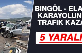 Bingöl - Elazığ Karayolunda Trafik Kazası: 5 Yaralı