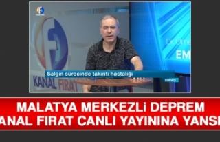 Deprem Anı Kanal Fırat Canlı Yayınına Saniye...