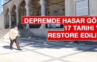 Depremde Hasar Gören 17 Tarihi Yapı Restore Ediliyor