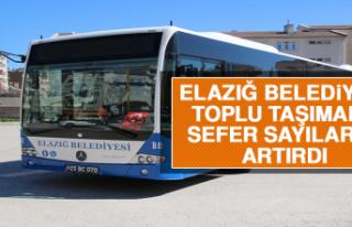 Elazığ Belediyesi Toplu Taşımada Sefer Sayılarını...