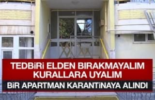 Elazığ'da Bir Bina Karantinaya Alındı