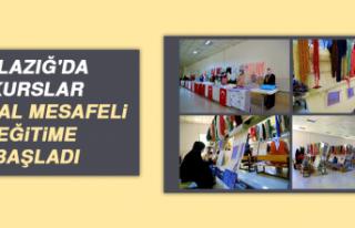 Elazığ'da Kurslar, Sosyal Mesafeli Eğitime...
