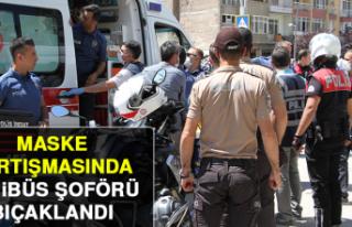 Elazığ'da Maske Tartışmasında, Minibüs...