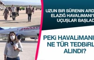 Elazığ Havalimanı'nda Seferler Yeniden Başladı