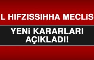 Elazığ İl Hıfzıssıhha Meclisi Yeni Kararlar...