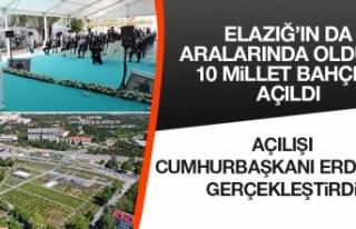 Elazığ Millet Bahçesi'nin Açılışı Gerçekleştirildi