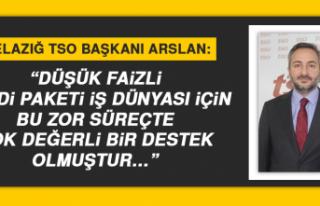 """Elazığ TSO Başkanı Arslan: """"Çok değerli bir..."""