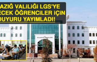 Elazığ Valiliği LGS'ye Girecek Öğrenciler...