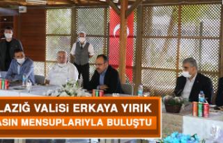 Elazığ Valisi Erkaya Yırık, Basın Mensuplarıyla...