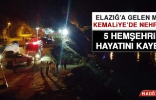Elazığ'a Gelen Minibüs Kemaliye'de Nehre Uçtu,...
