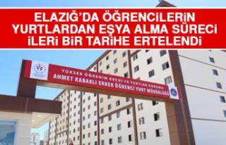 Elazığ'da Öğrencilerin Yurtlardan Eşya Alma...