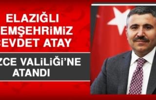 Elazığlı Hemşehrimiz Cevdet Atay, Düzce Valiliği'ne...