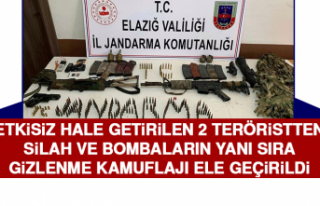 Etkisiz Hale Getirilen 2 Teröristten, Silah ve Bombaların...