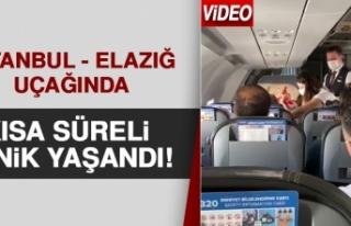 İstanbul - Elazığ Uçağında Kısa Süreli Panik...