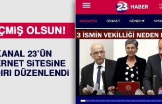 Kanal 23'ün İnternet Sitesine Saldırı Düzenlendi