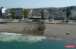 Karadeniz sahilleri sezona hazırlanıyor