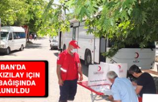 Keban'da, Türk Kızılay İçin Kan Bağışında...