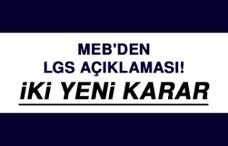 MEB'den LGS Açıklaması! İki Yeni Karar