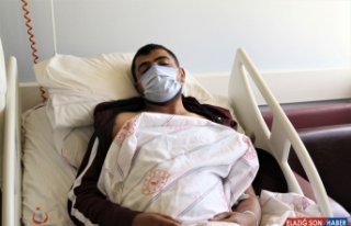 PKK'lı teröristlerin saldırısında yaralanan işçiler...