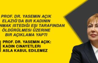 Prof. Dr. Yasemin Açık: Kadın Cinayetleri Asla...