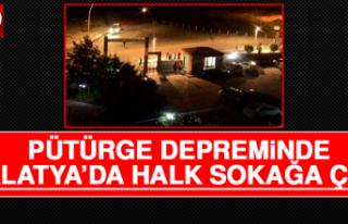 Pütürge Depreminde Malatya'da Halk Sokağa Çıktı
