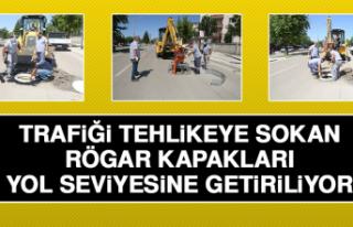 Trafiği Tehlikeye Sokan Rögar Kapakları Yol Seviyesine...