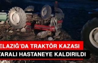 Traktör Kazasında 4 Kişi Yaralandı