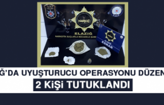 Elazığ'da Uyuşturucu Operasyonu Düzenlendi,...