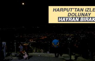 Harput'tan İzlenen Dolunay, Hayran Bıraktı