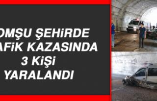 KOMŞU ŞEHİRDE Trafik Kazasında 3 Kişi Yaralandı