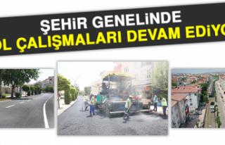 Şehir Genelinde Yol Çalışmaları Devam Ediyor