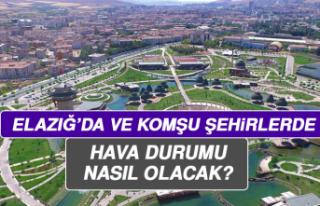 23 Ağustos'ta Elazığ'da Hava Durumu Nasıl...